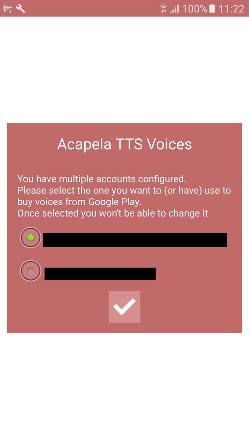 Acapela TTS Voices - Google Play - installation infos 1