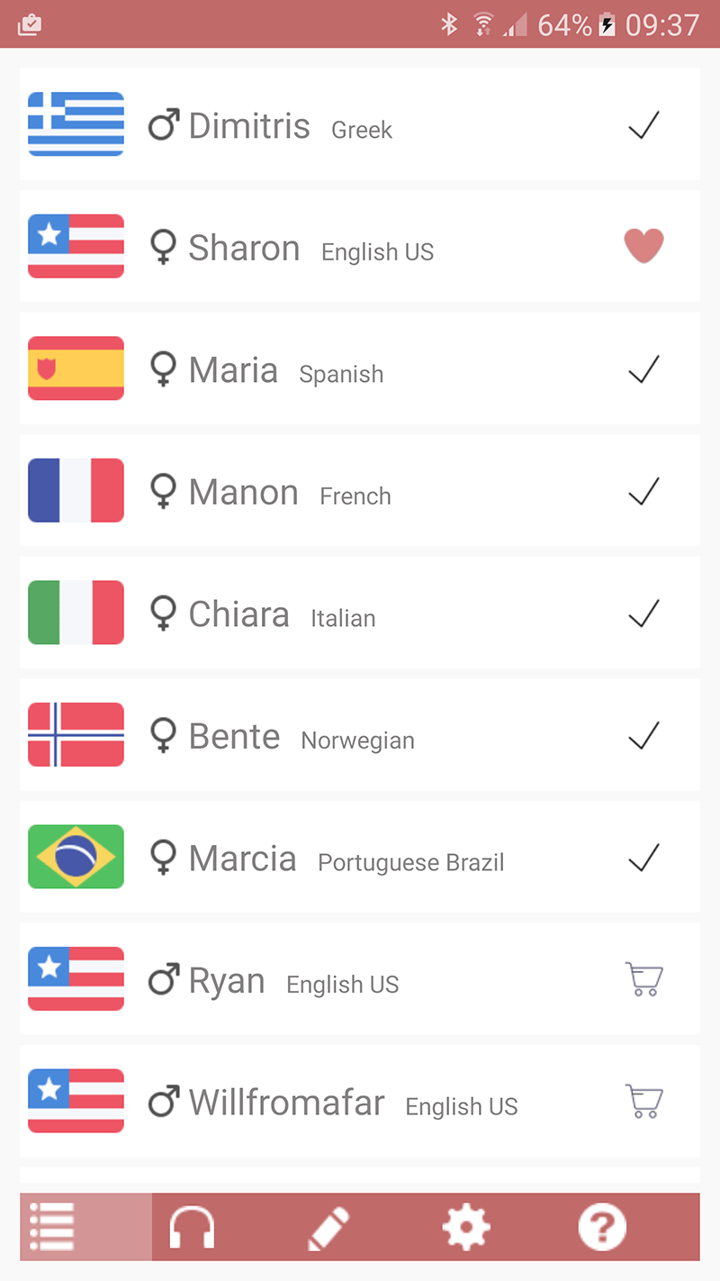 Acapela TTS Voices - Google Play - installation infos 15