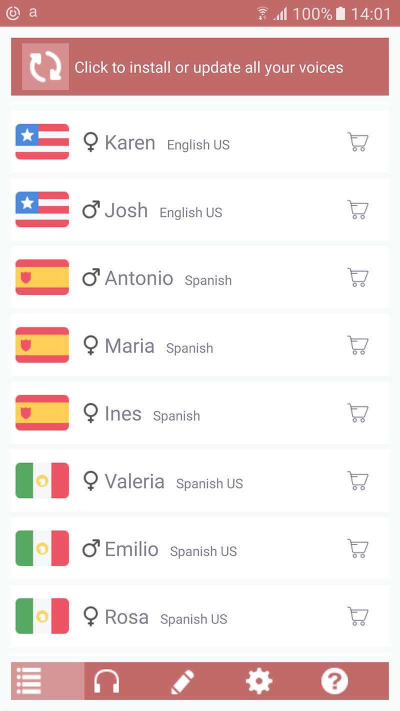 acapela voces spanish