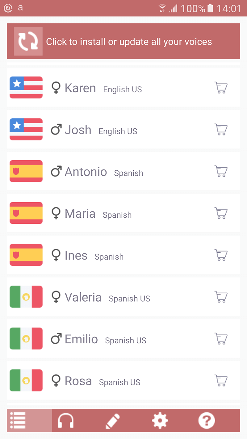 Acapela TTS Voices - Google Play - installation infos 2